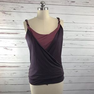 Ted Baker Twist Strap Purple Tank Top Ted 4 (10)